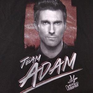 Team Adam Levine The Voice V-Neck T-shirt Ladies M